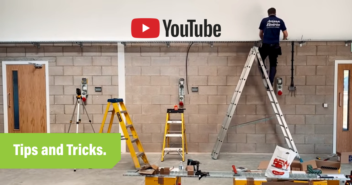 How to start a youtube channel blog header showing man climbing ladder on camera