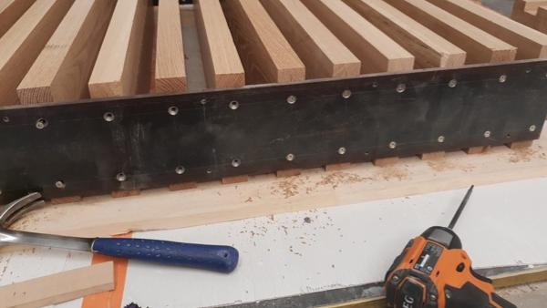 Orange RIGID cordless drill and hammer