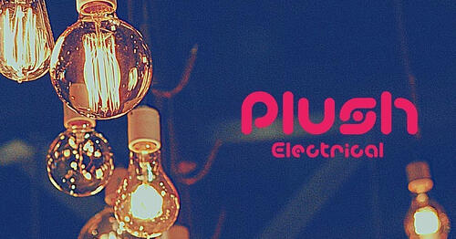 Plush electrical business logo showing a bunch of lightbulbs