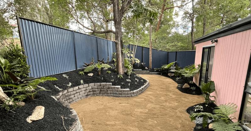 Case_Studies_GreenScapeXcavations_garden landscaping with bark-1