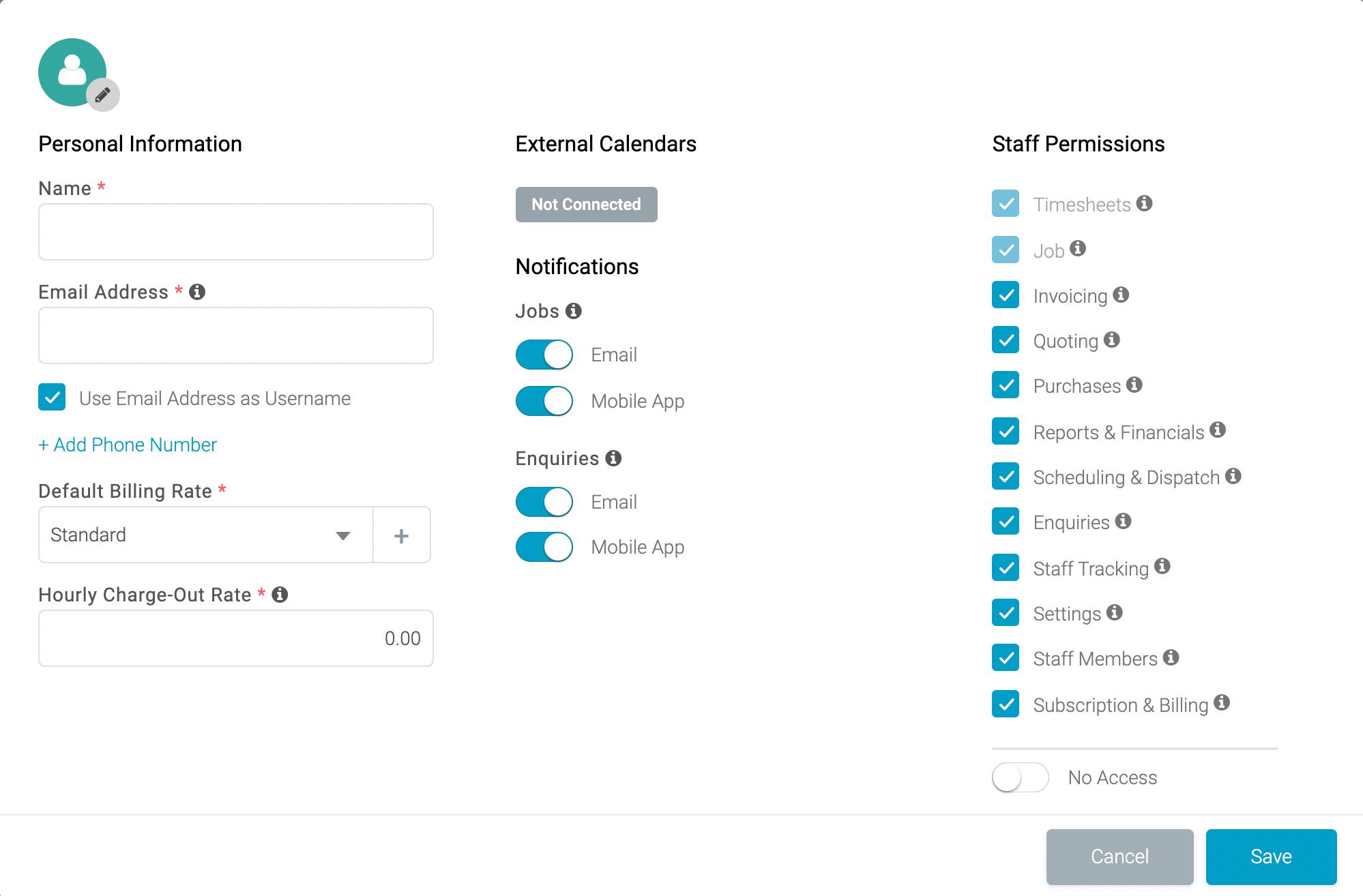 Creating an Admin Account on the Tradify Web App