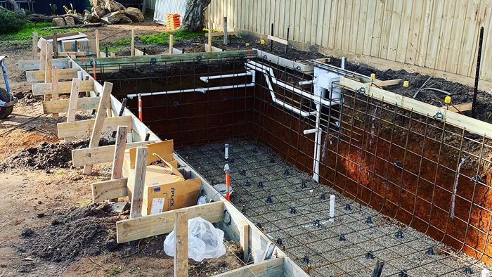 electrical wiring show on house foundation