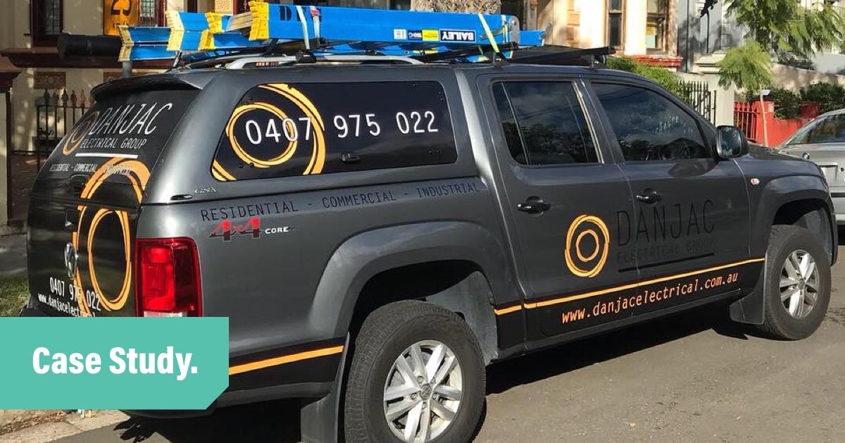 Danjac Electrical ute vehicle case study blog header