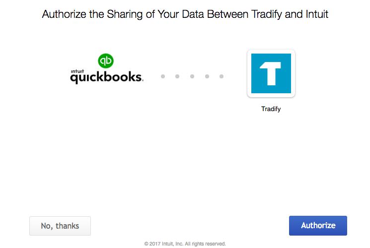tradify quickbooks online integration