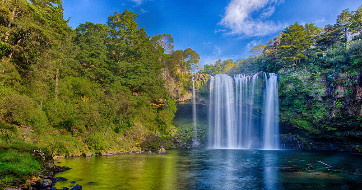 A photo of a beautiful waterfall in Kerikeri