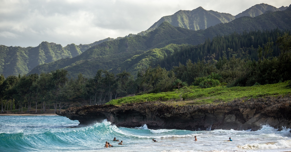 A photo of a nice beach with great surf