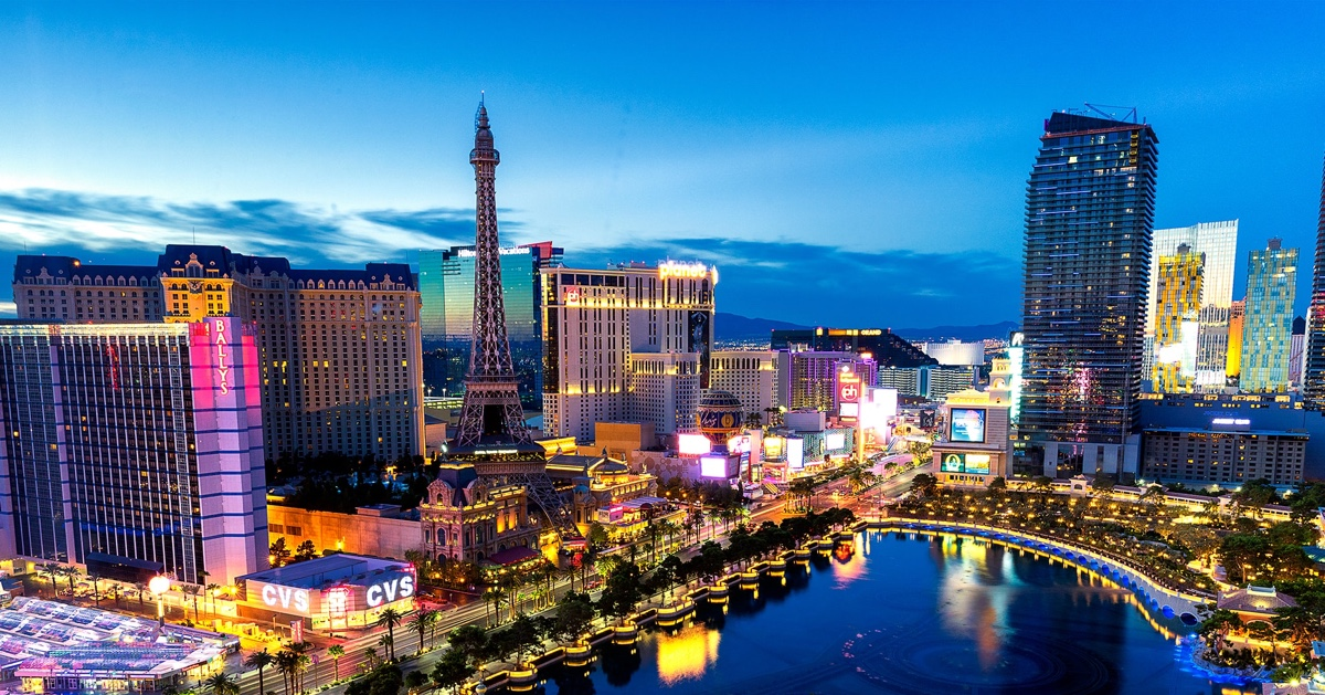 A photo Adam took of Las Vegas with all the lights sparkling at night