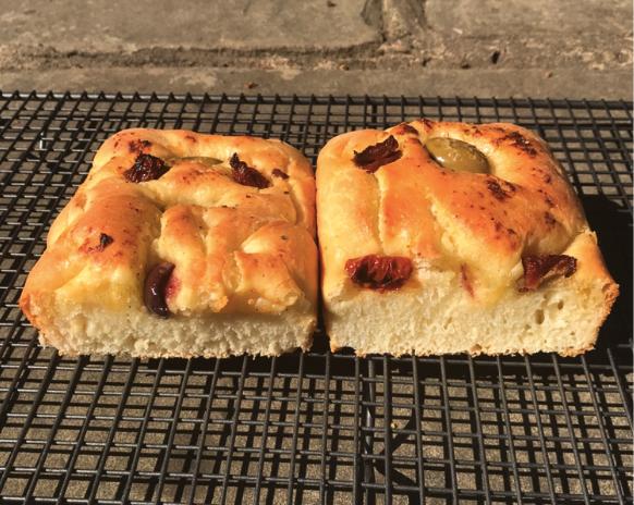 Colt's homemade focaccia bread