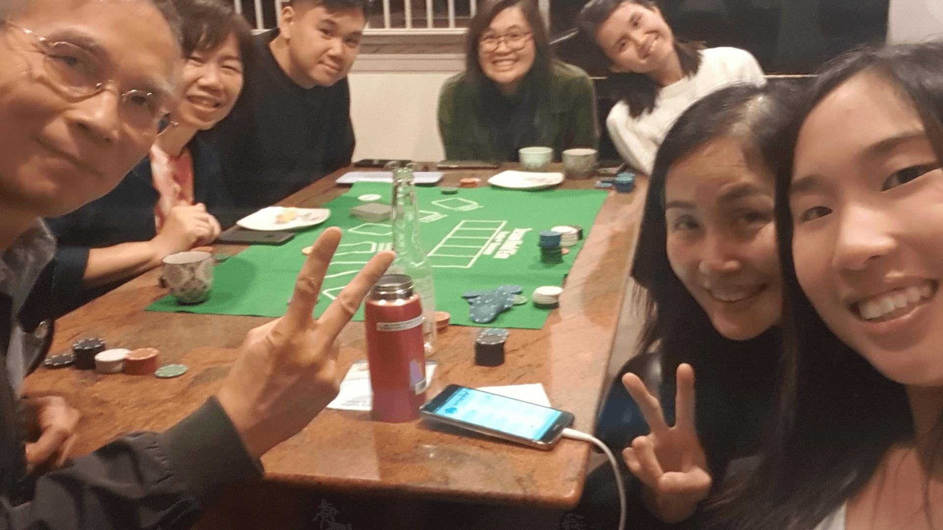 Mat_Amanda_amanda and her friends and family playing poker