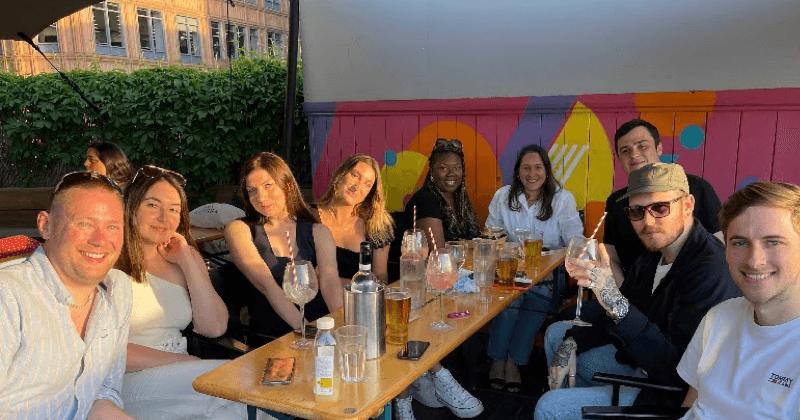 Mat_Hannah_tradify uk team having cocktails