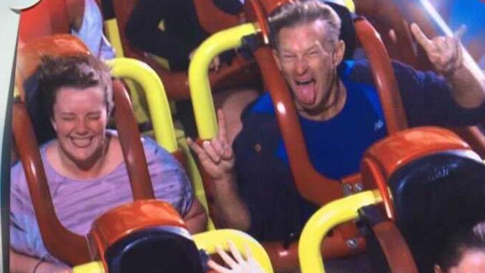 Mat_Natalie_riding rollercoaster