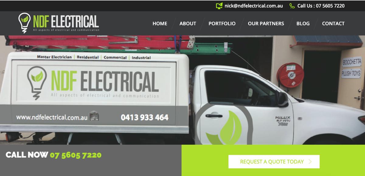 NDF Electrical Screenshot