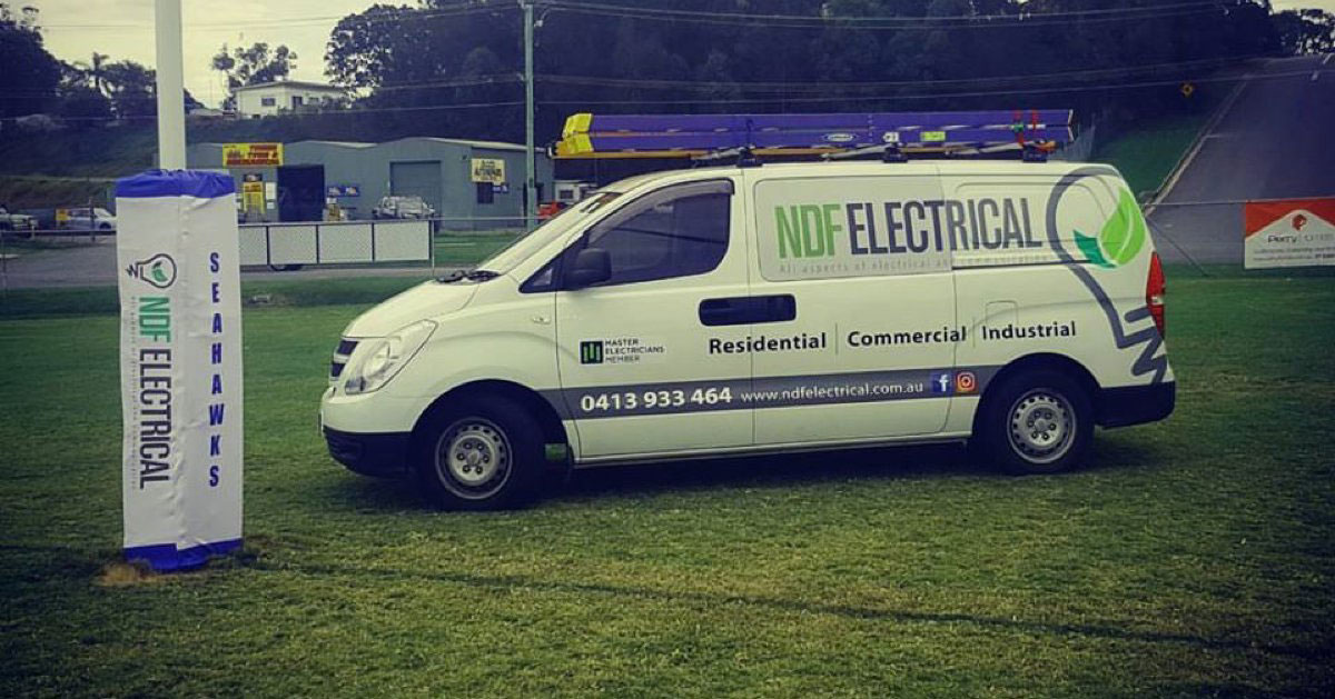 NDF Electrical Van and how Tradify gives NDF electrical their nights back