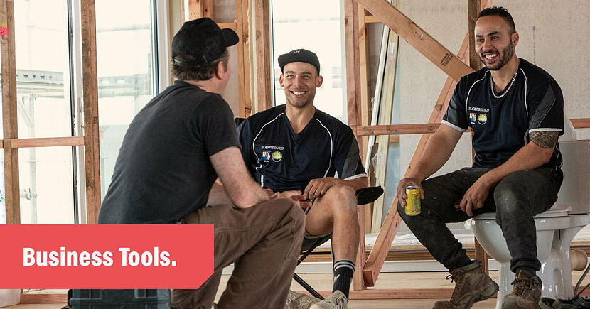 Tradify-Business-Tools-Plumbers-Sitting-in-a-Site