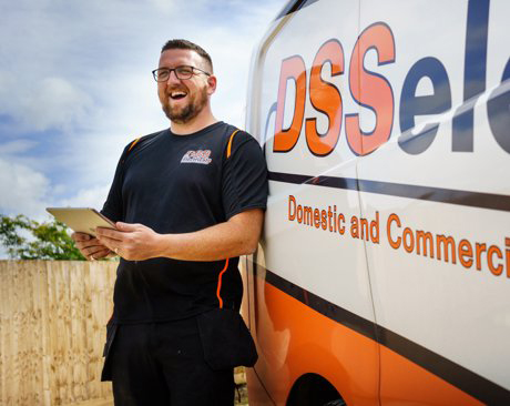 Tradify-Case-Study-of-DSS-Electrical-outside-DSS-Electrical-Van