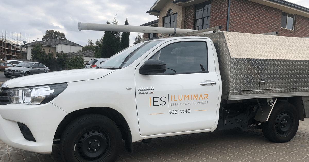 case study_illuminar_illuminar electrical van parked in a residential area