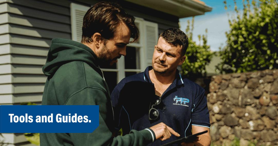 pipe fix plumbing and customer