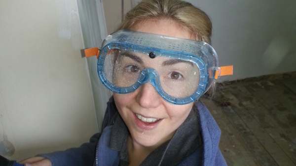 mat_amy_amy wearing snorkelling goggles