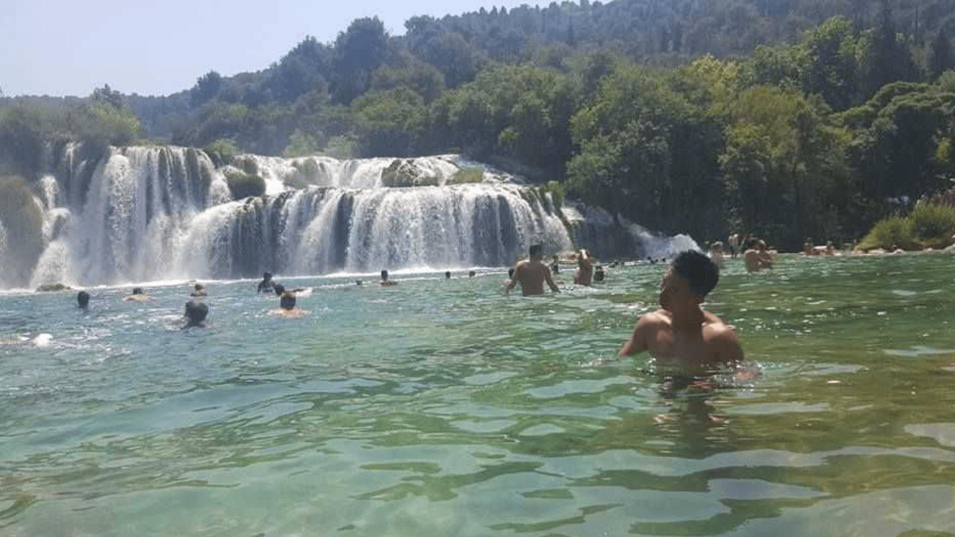 mat_hanyang_hanyang by a waterfall