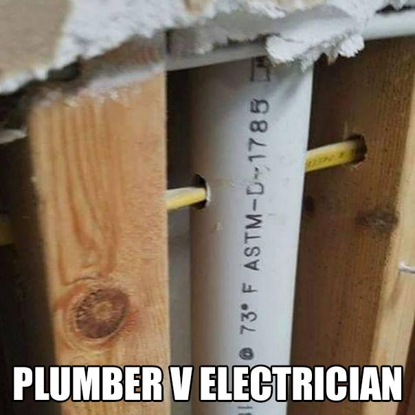 Electrician VS Plumber